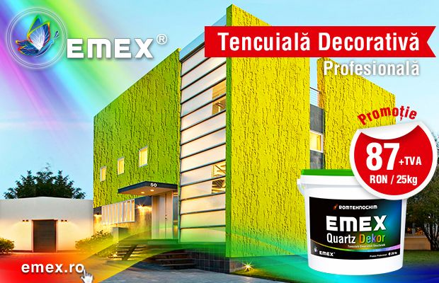 Promotie tencuiala decorativa structurata